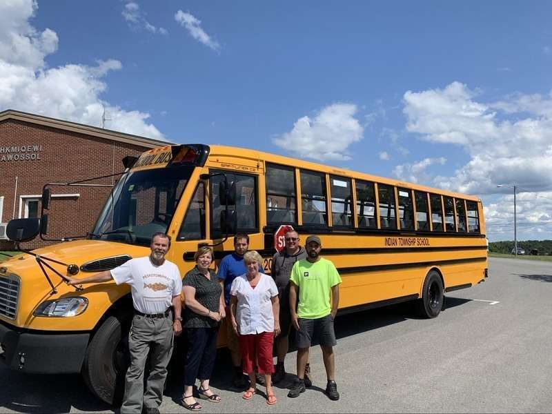 Indian Township School To Start Year With New School Bus The